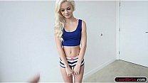 Blonde skinny teen Elsa Jean little tits facial...