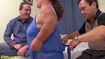 mature midget couple in a wild bukkake sex lesson