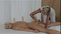 Blonde pussy fingered by masseuse until gets or...