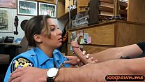 Phat ass amateur police officer sucks off and g...
