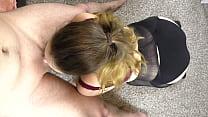 POV Deepthroat blowjob in pantyhose