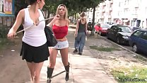 Hot Czech blonde Daria Glower in boots mouth an...