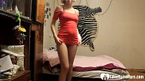 Horny stepsister records herself for her brothe...