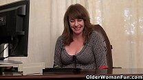Nyloned mature Tracy always wanted to masturbat...