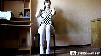 Secretary puts on a solo show in the office aft...