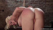 Mistress Cherry Torn keeps sexy big tits blonde...