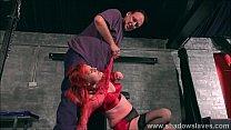 Humiliated slaveslut dressed in kinky lingerie ...