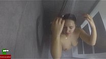 Girl taking a shower while masturbating with ho...