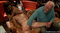 Blonde slave Mona Wales is made by mistress Pri...