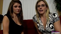 Mom shows her Daughter Dillion Carter how to ea...