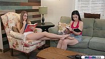 Coed makes her move on her 19yo bff by giving h...