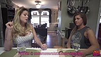 Threesome with babysitter wife to watch