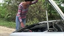 Brunette Mature Gets Fucked In Her Car
