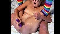 Brunette MIlf Plays With Her Favorite Dildo Big...