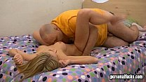 Watch Blonde cutie gets fucked in her own bed preview