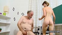 Lovable schoolgirl is tempted and banged by her...