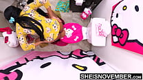 4k My Wife Left Me Alone With My StepDaughter M...