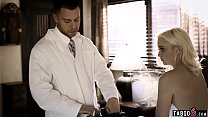Stepdad brings in doctor to help stepdaughter with a problem صورة