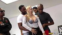 Busty Blonde MILF Sarah Vandella Interracial Ga...