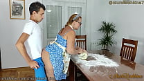 Stepson Fucked His Pregnant Stepmom While She W...