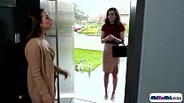 Assistant comes by her boss house for a file.Th...