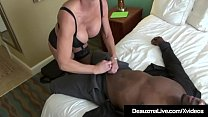 Watch Big Black Cock Lover Deauxma slides her mature muff on top of a huge ebony shaft until she gets her milky way! preview