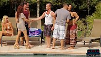 Newbie swingers get together  with a bunch of h...