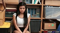 Asian teen shoplifter caught in the act by a ho...