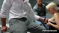 Watch Tattooed Blonde & well known hacker, Mila Milan, gets arrested but wastes no time jerking off both cops_& getting fucked hard up the ass, to get out of jail! Full Flick & 100's More at Private.com! preview