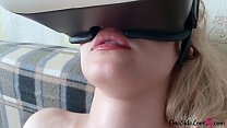 Fingering Pussy in VR and Cumshot - Taboo