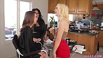 Watch American lesbian shooting with a new makeup artist preview