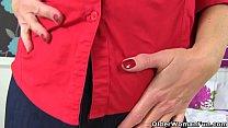 British milf Camilla Creampie wears her tight j...