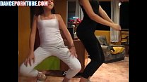 mexican sisters twerking in tight yoga pants