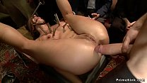 Stunning brunette slave with hot butt Wenona is...