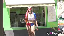 Dirty cosplayer loves public street sex