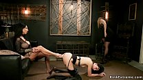 Two dominant lesbians Miss Robin and alt huge t...