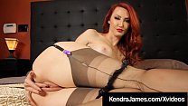 Ginger Bush Beauty, Kendra James, is dressed in...