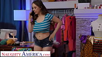 Naughty America - Jackie Hoff catches Nathan st...