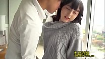 Young korean couple in a hotel room