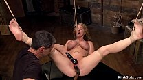Huge tits beautiful blonde slave Carissa Montgo...