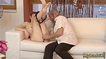 Blonde ts  friend's daughter gives step dad blo...