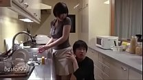 Best japanese mom fuck by son hard in fron husban