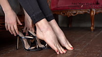 Sexy Foot Fetish Show In High Heels, Hot Girl S...