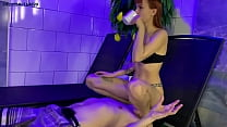 Skinny Young Goddess In Panty Use Her Human Fur...