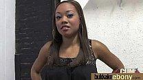 Ebony Cum Slut Hottie Bukkake Party 17
