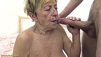 hairy 90 years old mom rough fucked by her youn...