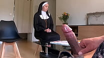 Camera hidden in the waiting hall, this nun did...