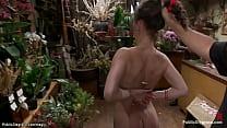 Small tits brunette slut Bonnie Day butt plugge...