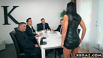 Watch Wife double anal and double pussy fucked at a dinner party preview