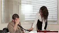 Officesex loving Alexa Tomas fucked on desk